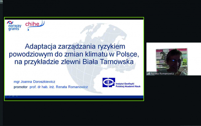 prof. Renata Romanowicz, fot. screen obrona on-line